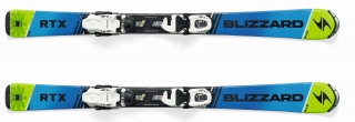 BLIZZARD RTX JR L, BLUE/GREEN, RENTAL + slr 7,5
