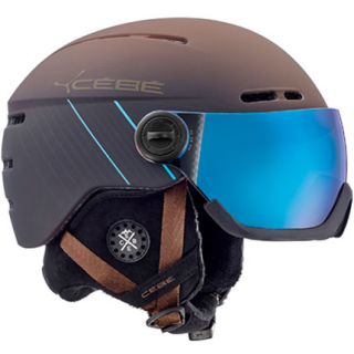 Přilba CéBé Fireball Visor Matt brown blue 19/20